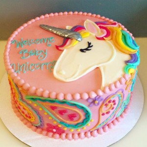 Unicorn Drawing Cake