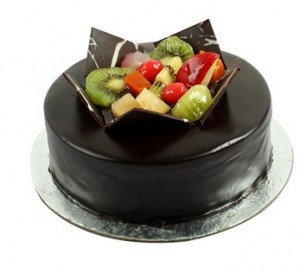 Chocolate Fruit Gateau Cake