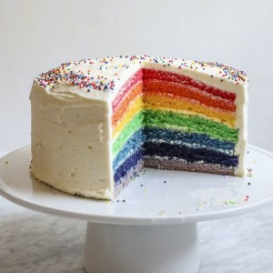 Rainbow Fresh Cream Cake